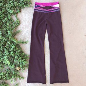 Lululemon I Maroon Flare Yoga Pants Leggings I 6